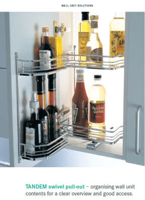Tandem swivel wall unit