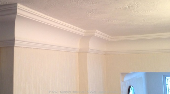 Orac Decor Coving C217 & Wallpapering 1