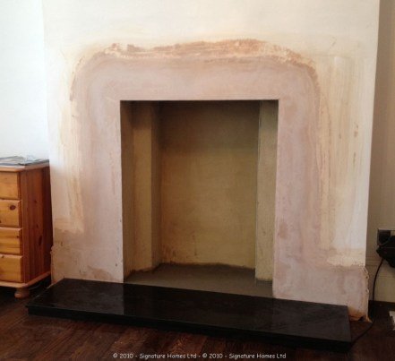 Fireplace Installation with Coving, Ceiling Rose & Chandelier PREPARATION 1