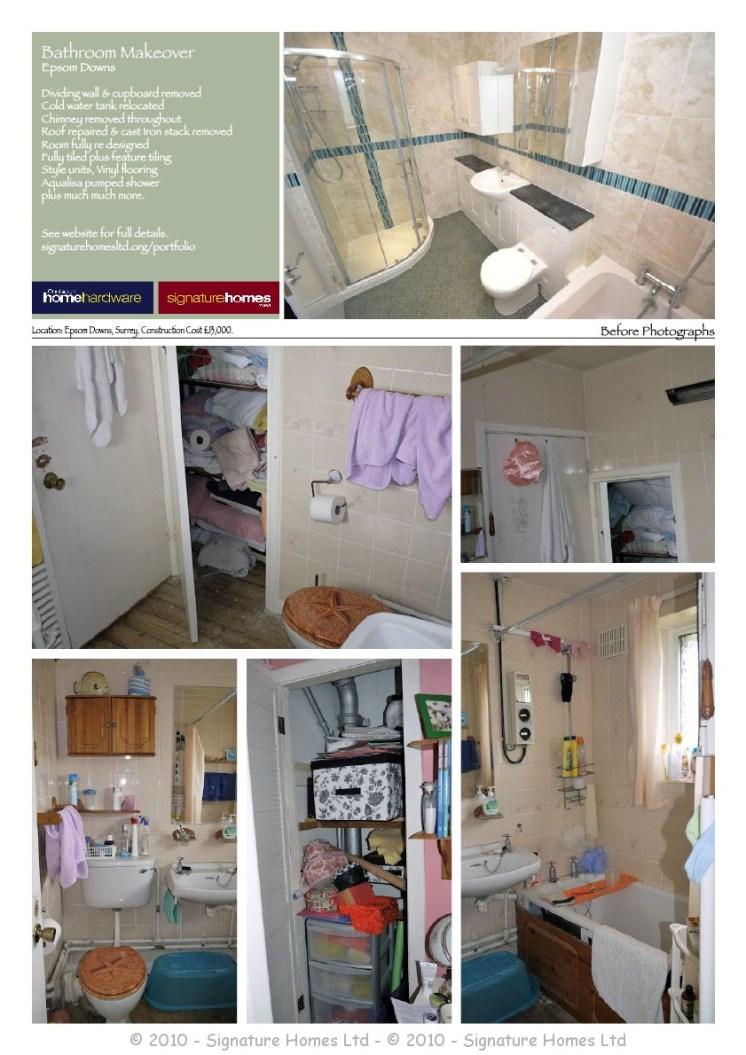 Portfolio Collection - Bathrooms Before