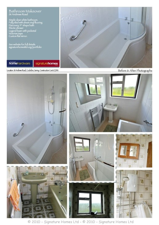 A3 Bathroom Portfolio Before & After