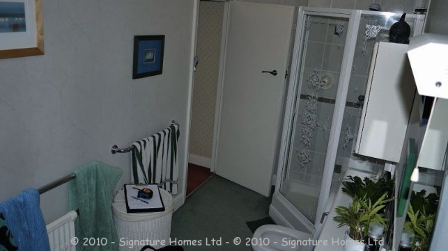 Light & Spacious Fitted Bathroom with pentagon shower enclosure - Woodcrest Road Purley BEFORE 4