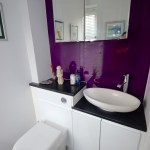 Cloakroom Makeover with purple acrylic