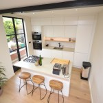 Kitchen Knockthrough with Concrete Worktop