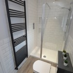 Walk-In Shower With Recess & Anthracite Furniture
