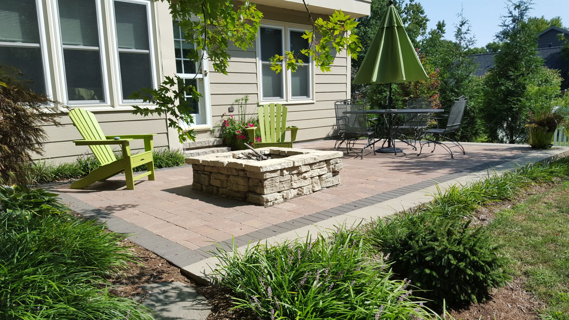 paver patio fire pit chesterfield