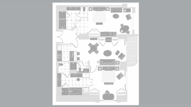 Mgm Signature Two Bedroom Suite Floor Plan - Bedroom Style Ideas