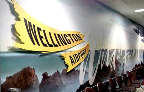 Wall mural with 3D element Welly Airport