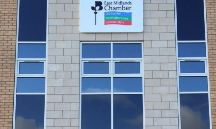 Contemporary signage for The Chamber