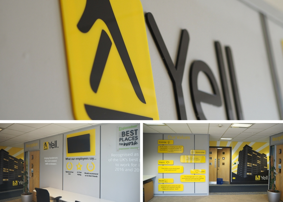 Yell offices by HNS Signs 2