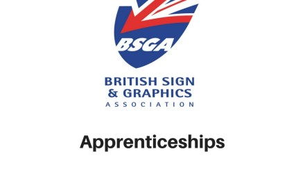 Funding for signmaking apprentices has changed
