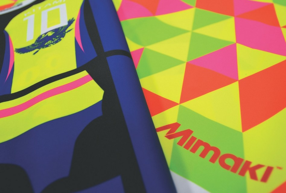 Mimaki's TS30-1300 uses neon inks for eye appeal
