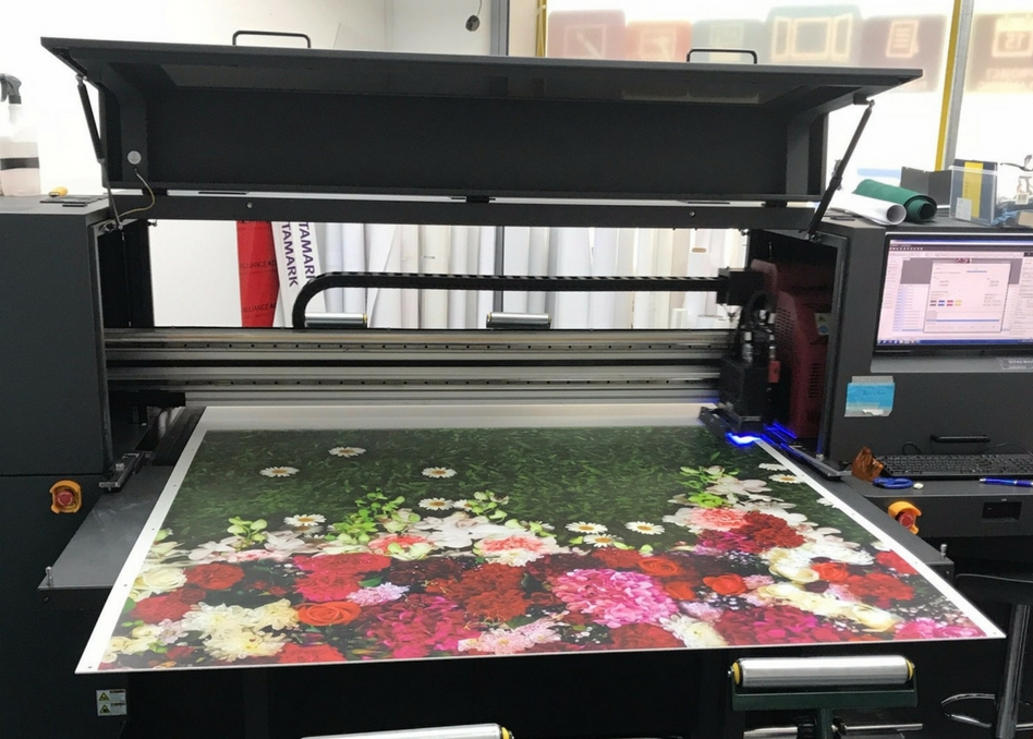 The printer being used for a recent hoarding project
