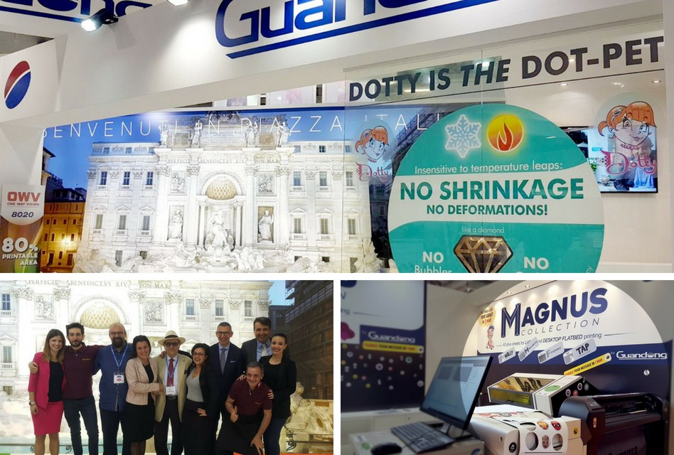 Guandong recreated an Italian piazza at FESPA 2018