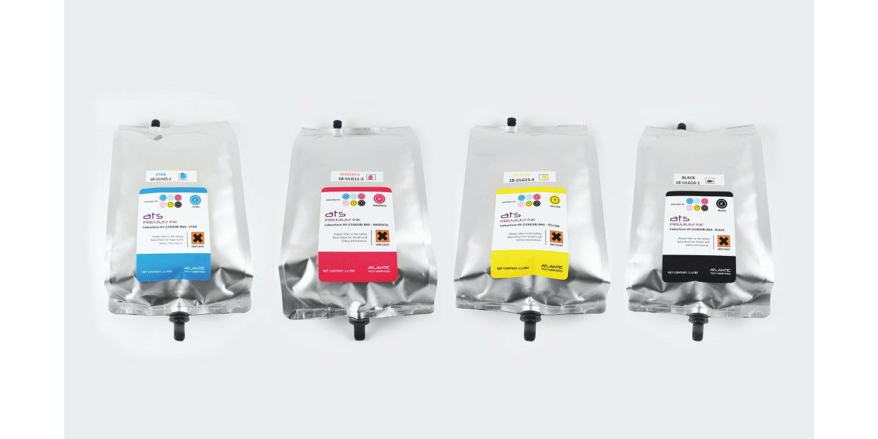 Atlantic Tech releases ColourSURE inks in  two-litre bags