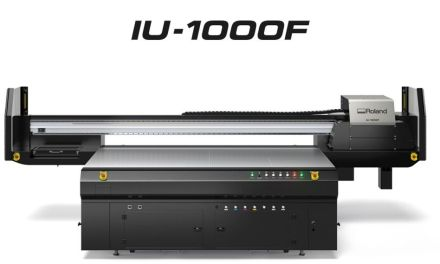 Roland DG launches IU-1000F UV-LED flatbed