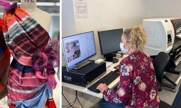 The HP Stitch S300 printer keeps fashion students on trend