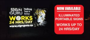 Portable Rental Sign Edmonton
