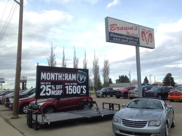 Mini Billboard Sign Rentals