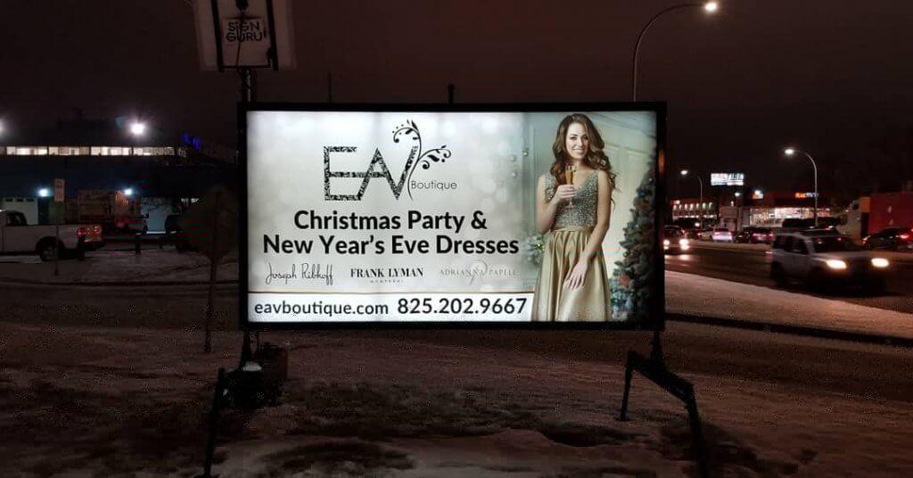 Light Up Mobile Signs Edmonton