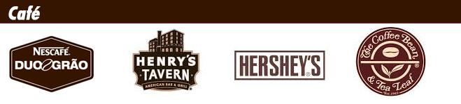 Logotipos de marcas de color café