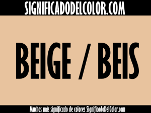significado del color beige