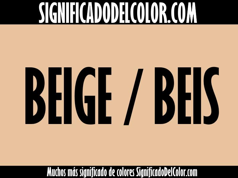 significado del color beige