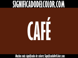 significado del color café