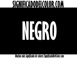significado del color negro