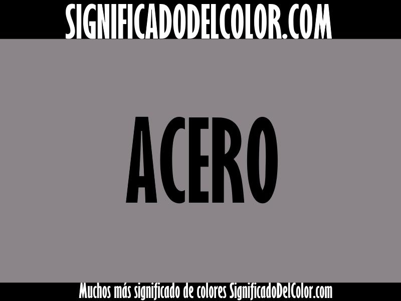 Cual es el color Acero ▷【Como es el color acero + Ejemplo】