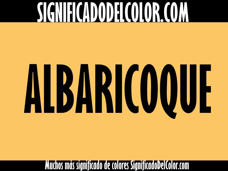 cual es el color albaricoque