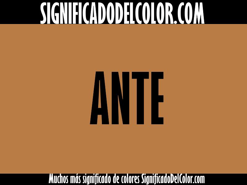 Cual es el color Ante ▷【Como es el color ante + Ejemplo】