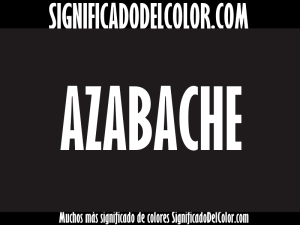 cual es el color azabache