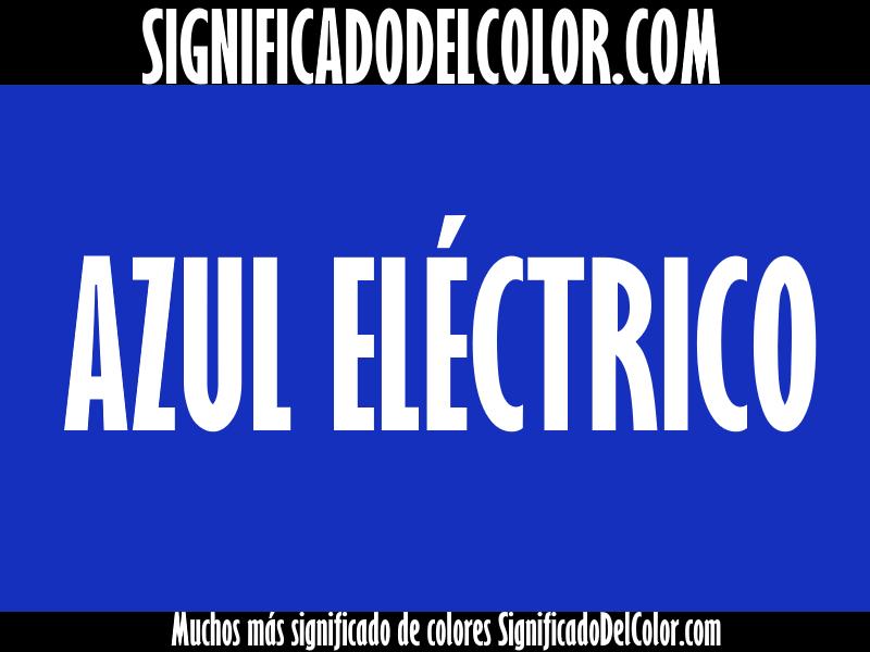 cual es el color azul eléctrico