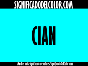 cual es el color cian