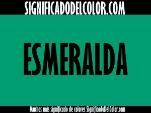 cual es el color verde esmeralda