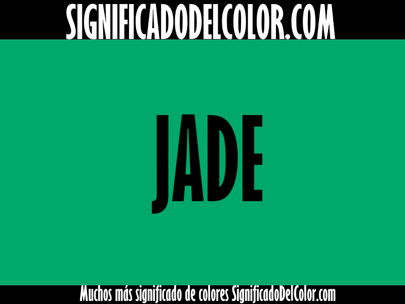 Cual es el color verde jade ▷【Como es el color verde jade + Ejemplo】
