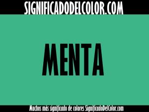 cual es el color verde menta