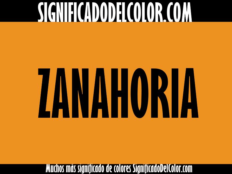 ¿Cual es el color Zanahoria?