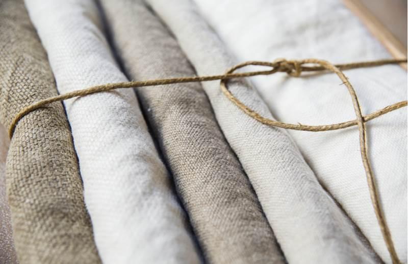 ejemplo de telas de lino