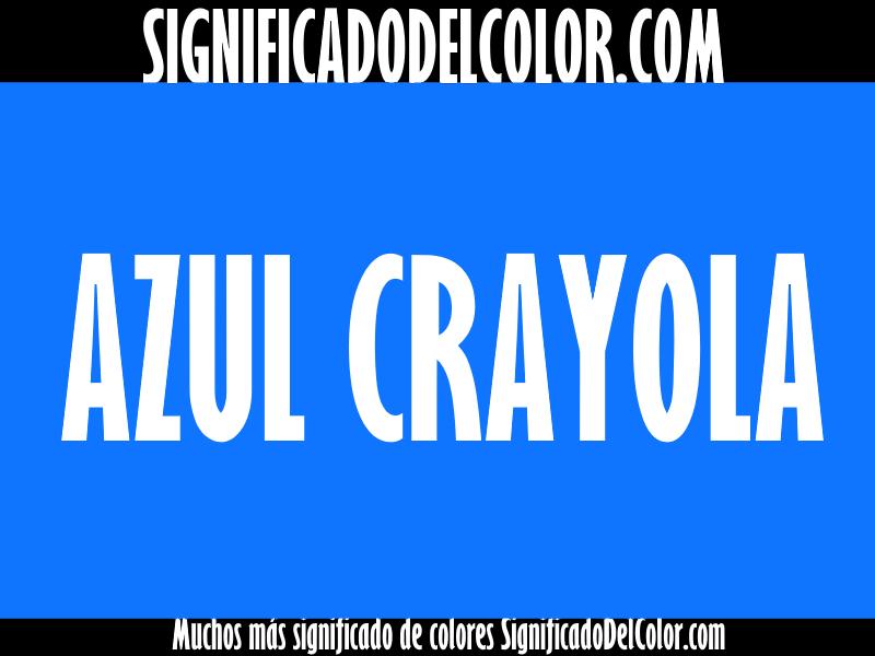 ¿Cual es el color Azul Crayola?