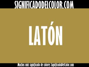 cual es el color laton
