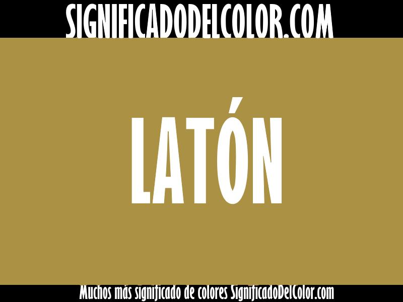 ¿Cual es el color Latón?