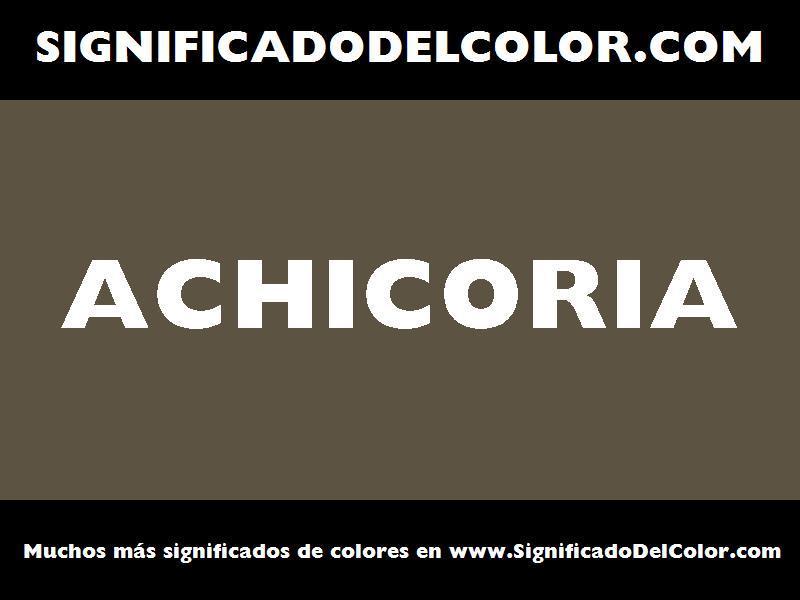 ¿Cual es el color Achicoria?