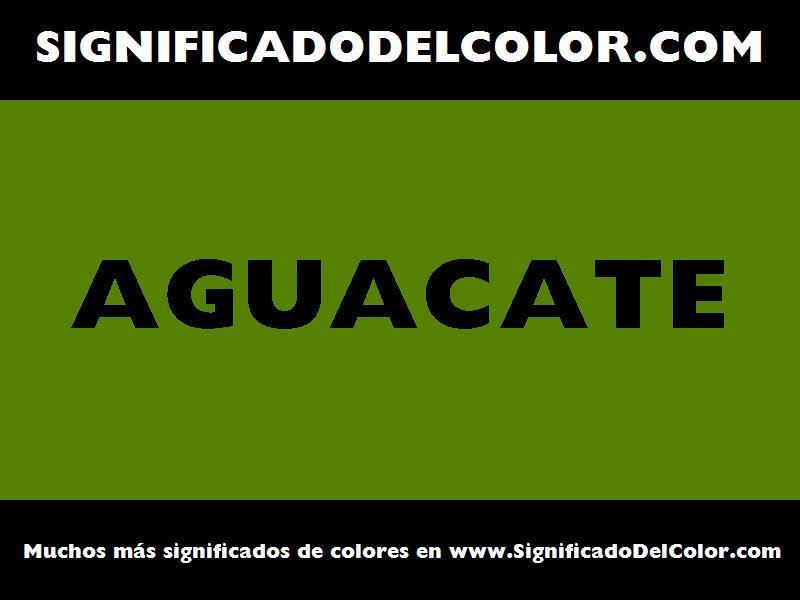 ¿Cual es el color Aguacate?