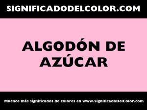 cual es el color algodon de azucar