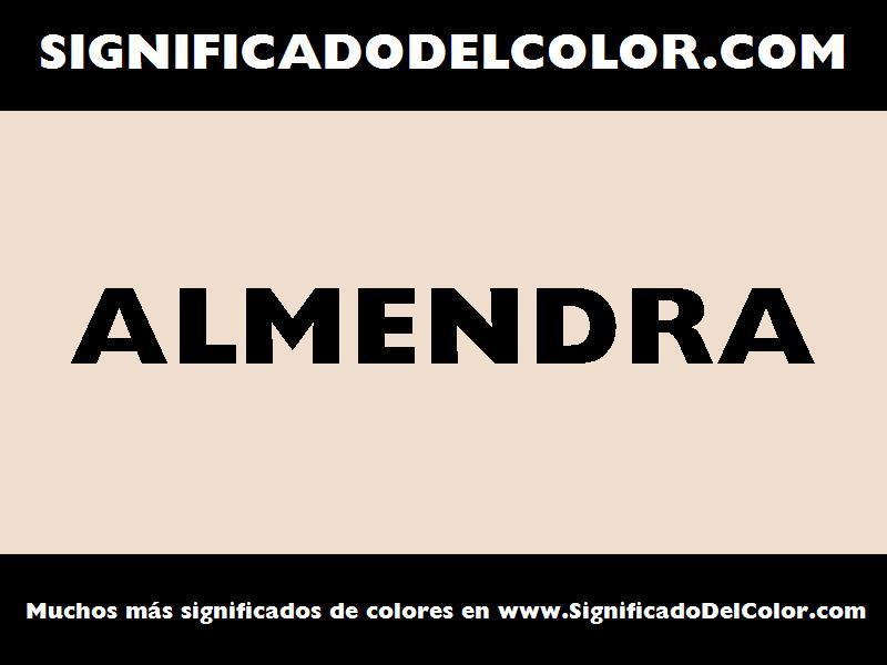 ¿Cual es el color Almendra?