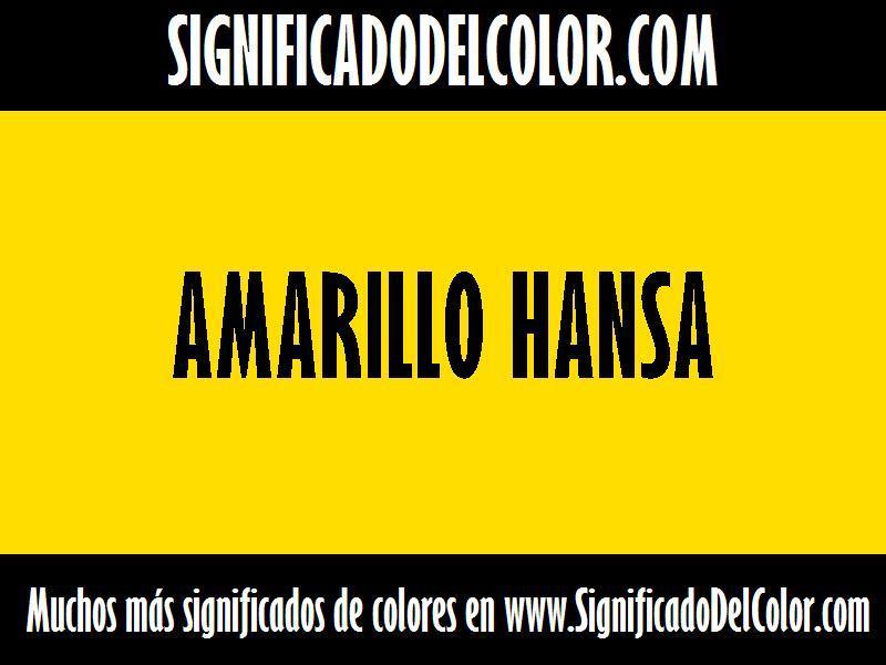cual es el color Amarillo hansa