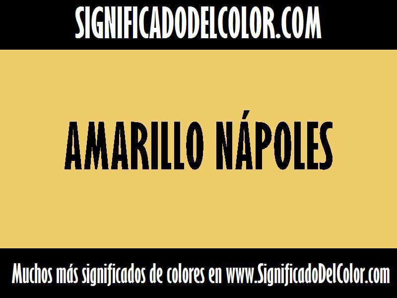 cual es el color Amarillo nápoles