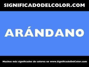 cual es el color arandano